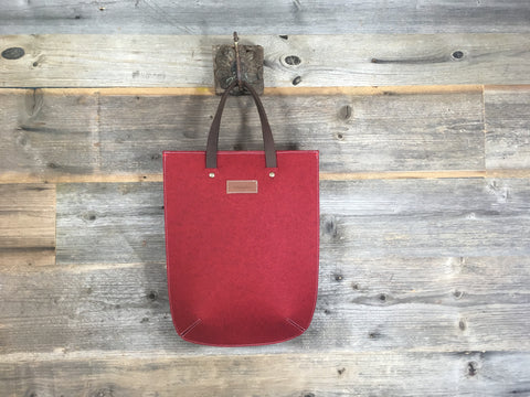 Vilten laptop tas red laptop tote