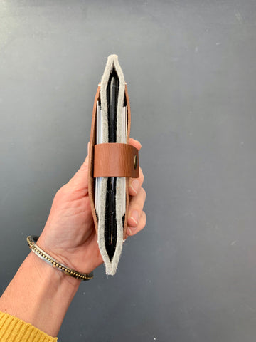Fairphone wallet with felt and leather