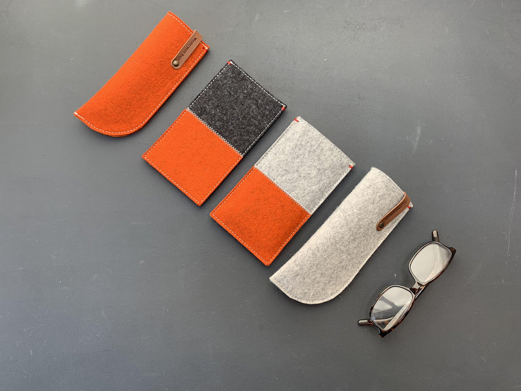 Wol vilt collectie dutch design westerman bags, iphone, bril