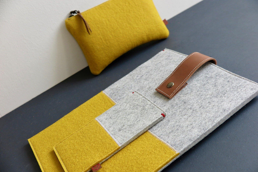 Westerman bags yellow woolfelt colour collection