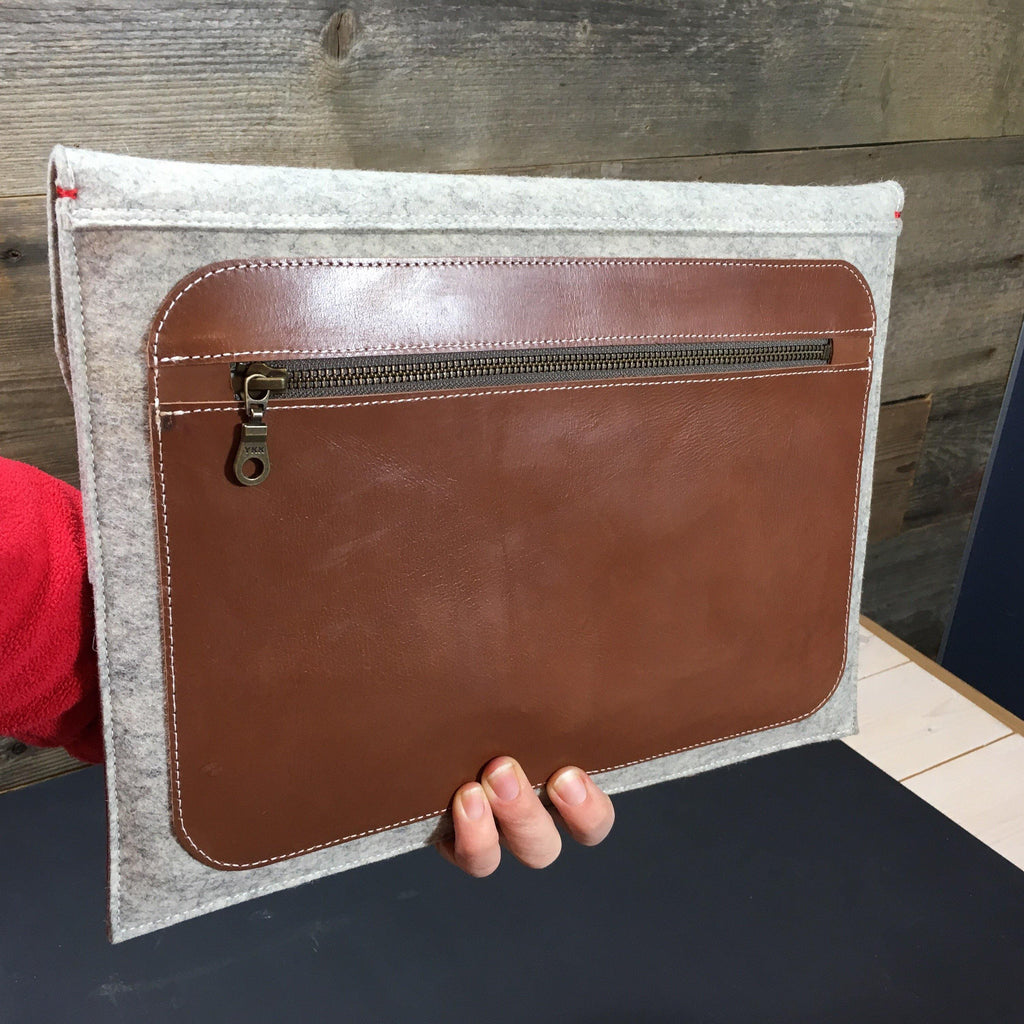 Leather MacBook Pro case with initials
