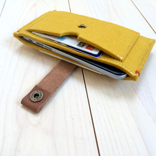 CONTRAST - iPhone wallet vilt | Geel