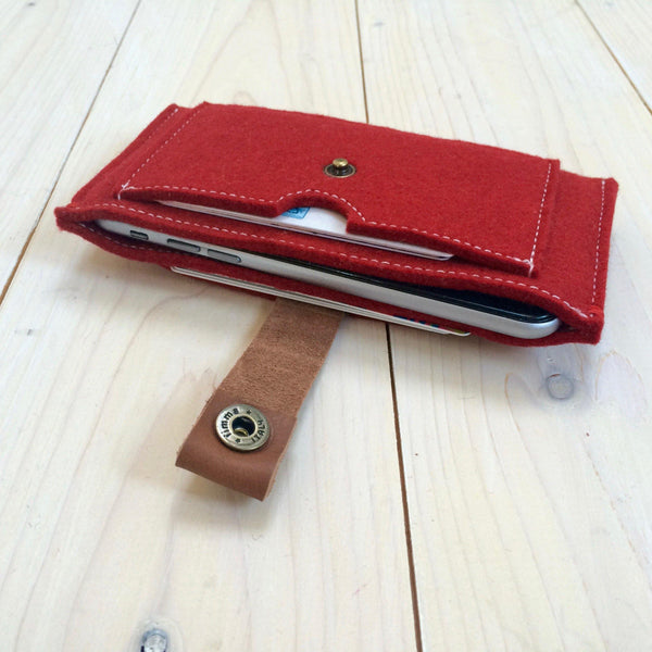 CONTRAST - iPhone wallet vilt | ROOD