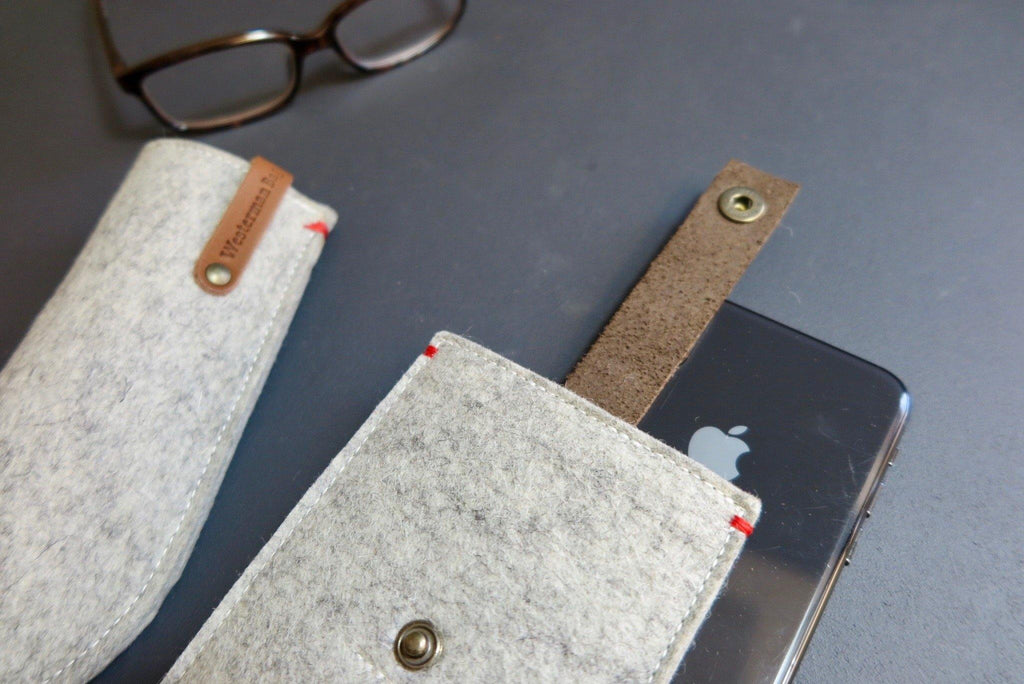 Felt cases dutch design for iPhone X by Westerman Bags