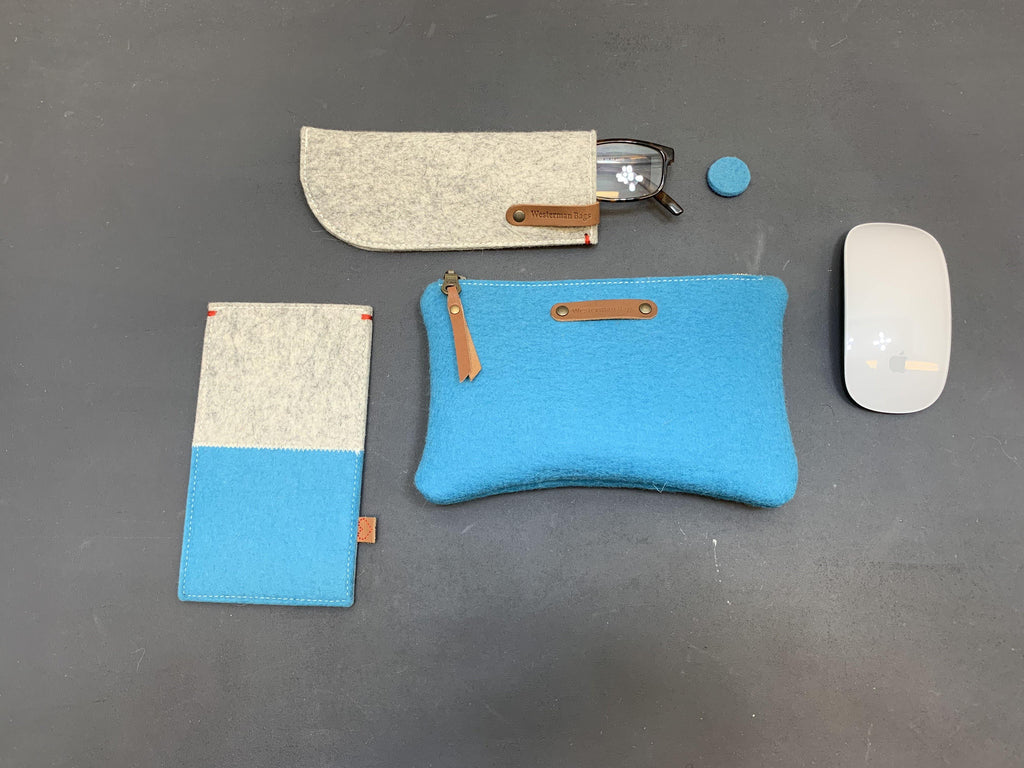 Felt pencil case, vilten etui