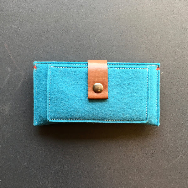 CONTRAST - iPhone wallet vilt | OCEAN BLUE