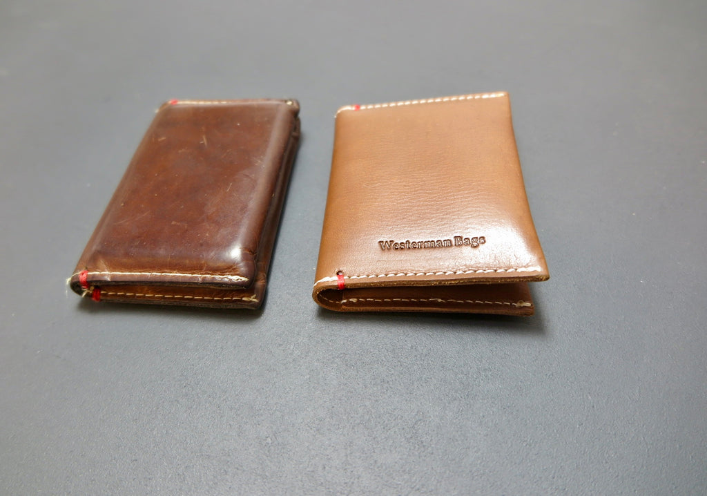 Distressed leather cards case