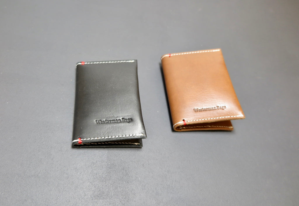 Credit card wallet case made of Vegetable tanned leather
