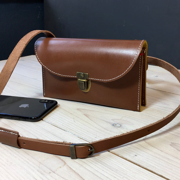 Leather mini bag for iPhone