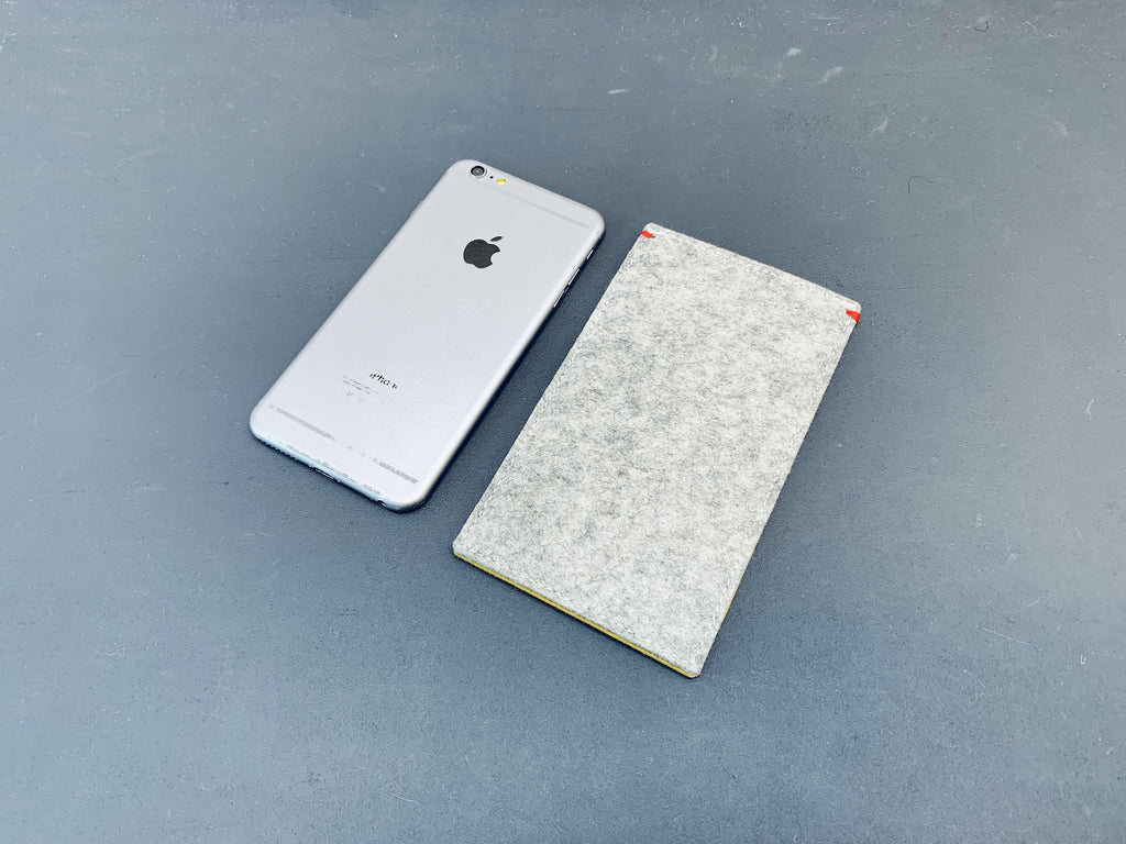 iPhone Xsmax felt sleeve case in grey by Westerman bags