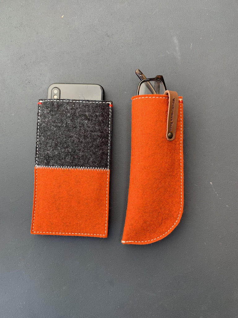 glasses case felt, woolfelt galsses case dutch design orange