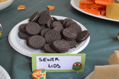 TMNT Sewer Lids Party Food