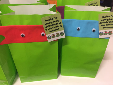 TMNT party favour bag
