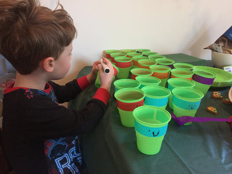 TMNT DIY party cups
