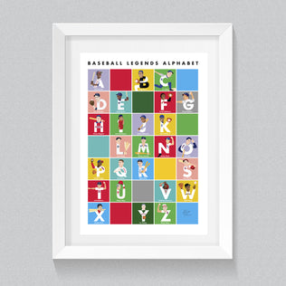 Baseball Legends Alphabet Poster