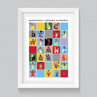 Basketball Legends Alphabet Poster