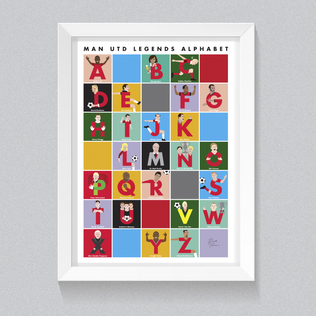 Man Utd Legends Alphabet Poster