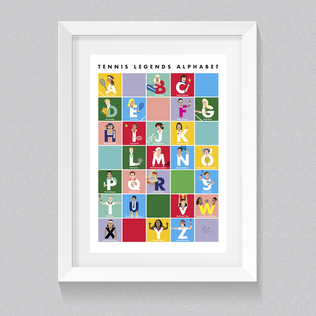Tennis Legends Alphabet Poster