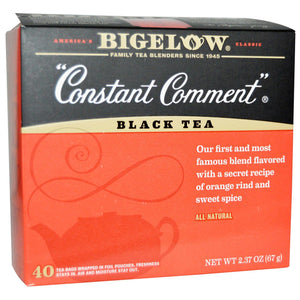Bigelow: Constant Comment Black Tea All Natural 40 Tea Bags, 2.37 Oz