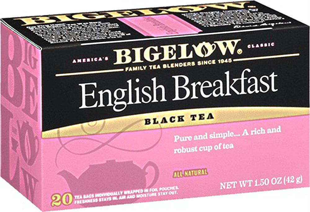 Bigelow: English Breakfast Black Tea All Natural 20 Tea Bags, 1.50 Oz