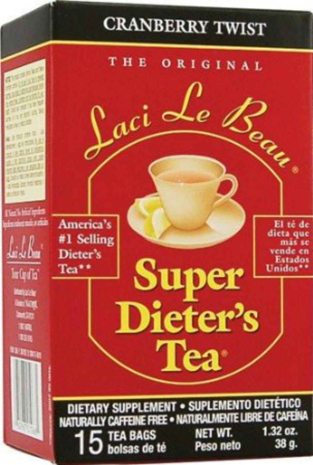 Laci Le Beau: Super Dieter's Tea Cranberry Twist 15 Tea Bags, 1.32 Oz