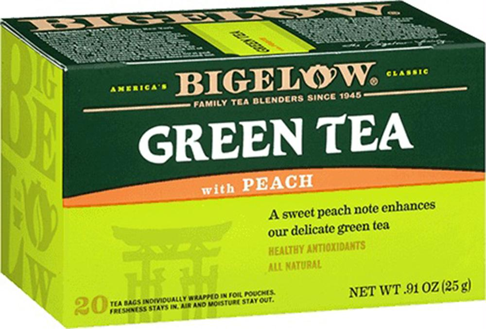 Bigelow: Green Tea With Peach 20 Tea Bags, 0.91 Oz