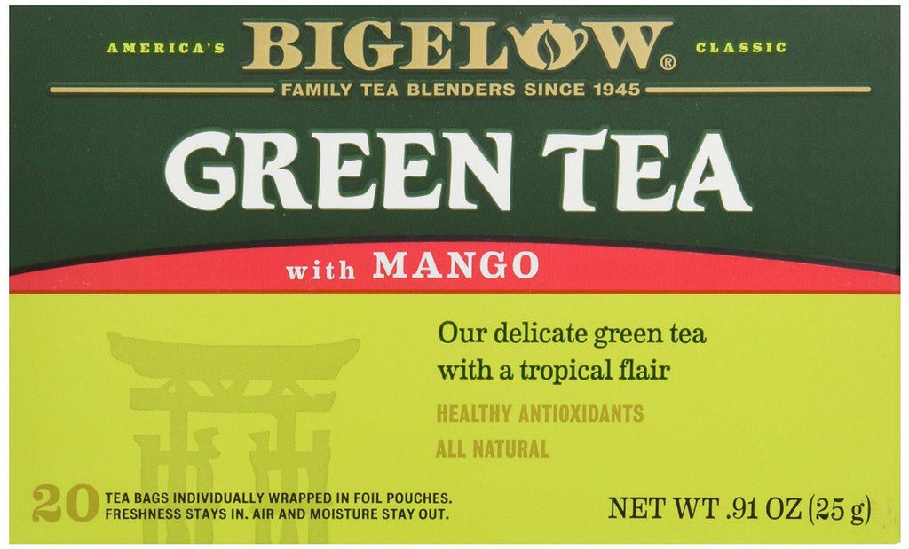 Bigelow: Green Tea With Mango Healthy Antioxidants 20 Tea Bags, 0.91 Oz