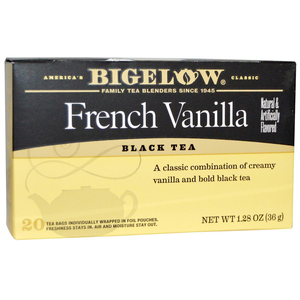 Bigelow: French Vanilla Black Tea 20 Tea Bags, 1.28 Oz
