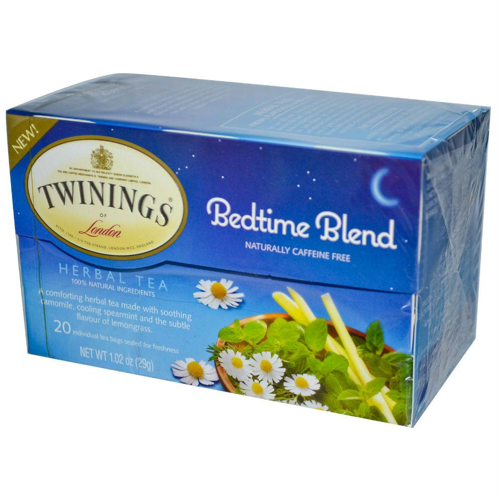 Twinings: Herbal Tea Bedtime Blend Naturally Caffeine Free 20 Bag, 1.02 Oz