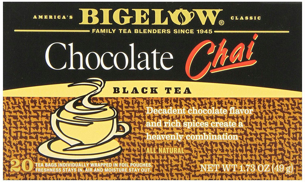 Bigelow: Chocolate Chai Black Tea 20 Tea Bags, 1.73 Oz