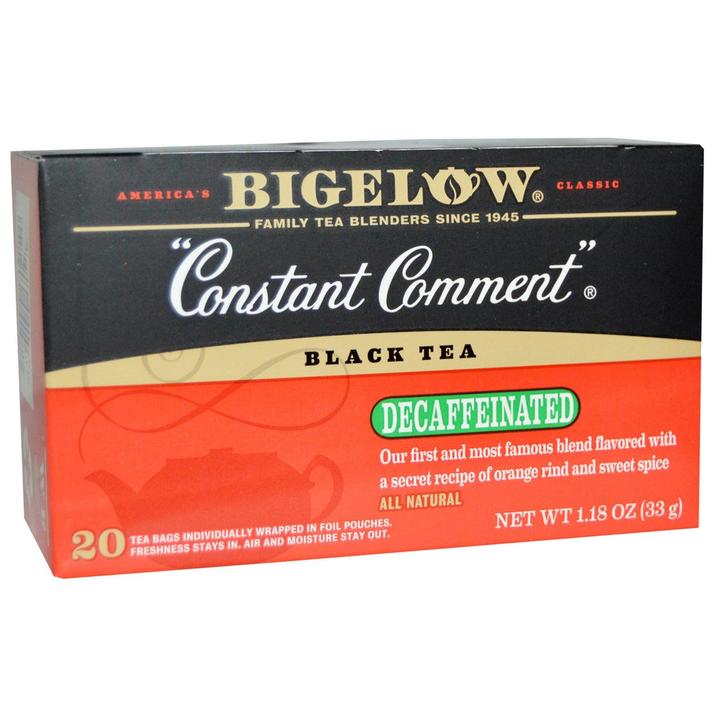 Bigelow: Constant Comment Black Tea Decaffeinated 20 Tea Bags, 1.18 Oz