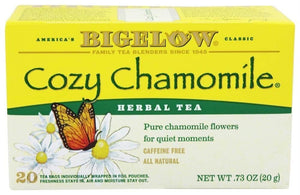 Bigelow: Herbal Tea Caffeine Free Cozy Chamomile, 20 Tea Bags
