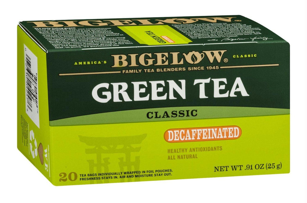 Bigelow: Green Tea Classic Decaffeinated 20 Tea Bags, 0.91 Oz