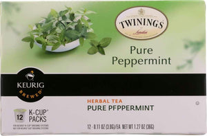 Twinings Of London: Herbal Tea Pure Peppermint K-cups, 12 Pc