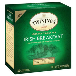 Twinings: 100% Pure Black Tea Irish Breakfast, 50 Tea Bags