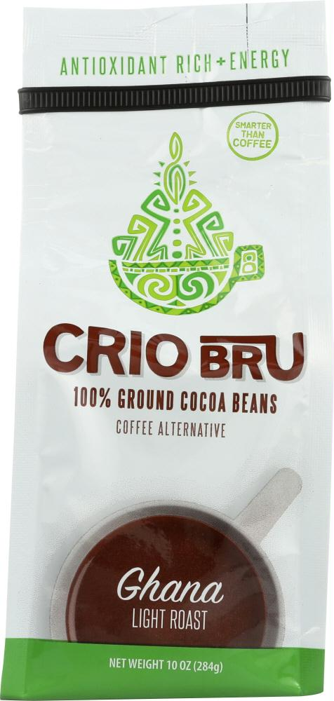 Crio Bru: Cocoa Ghana Light Roast, 10 Oz