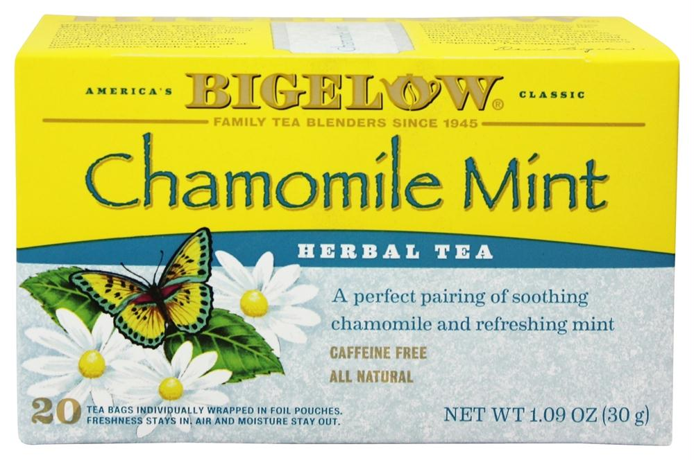 Bigelow: Chamomile Mint Herb Tea All Natural Caffeine Free 20 Tea Bags, 1.09 Oz