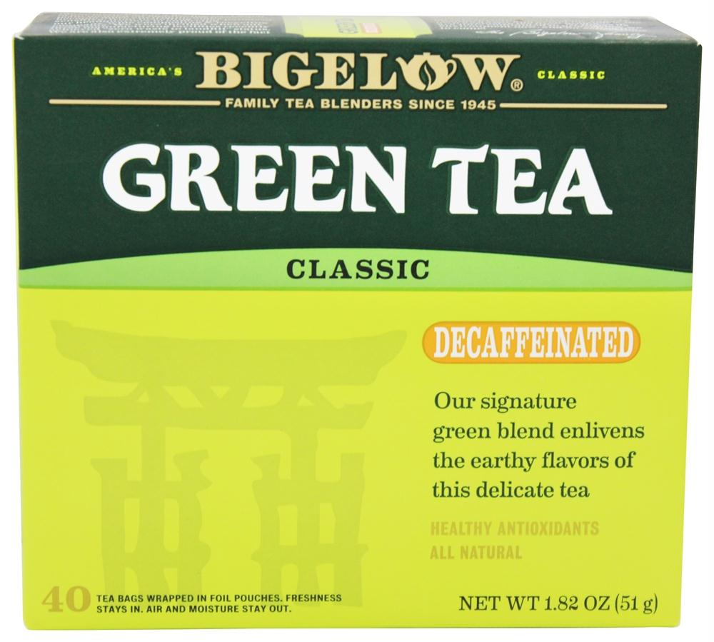 Bigelow: Green Tea Classic Decaffeinated 40 Tea Bags, 1.82 Oz