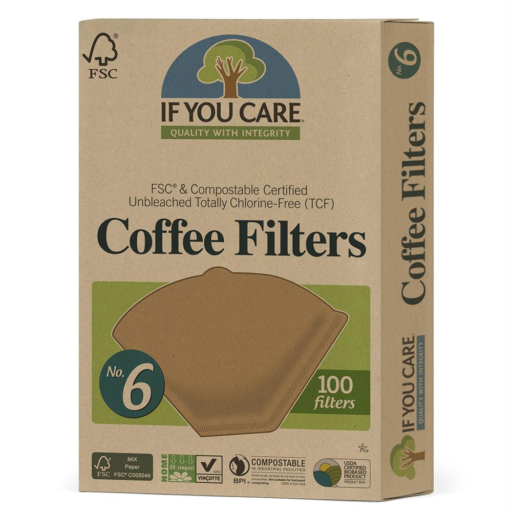 If You Care: Unbleached No.6 Coffee Filter, 100 Count