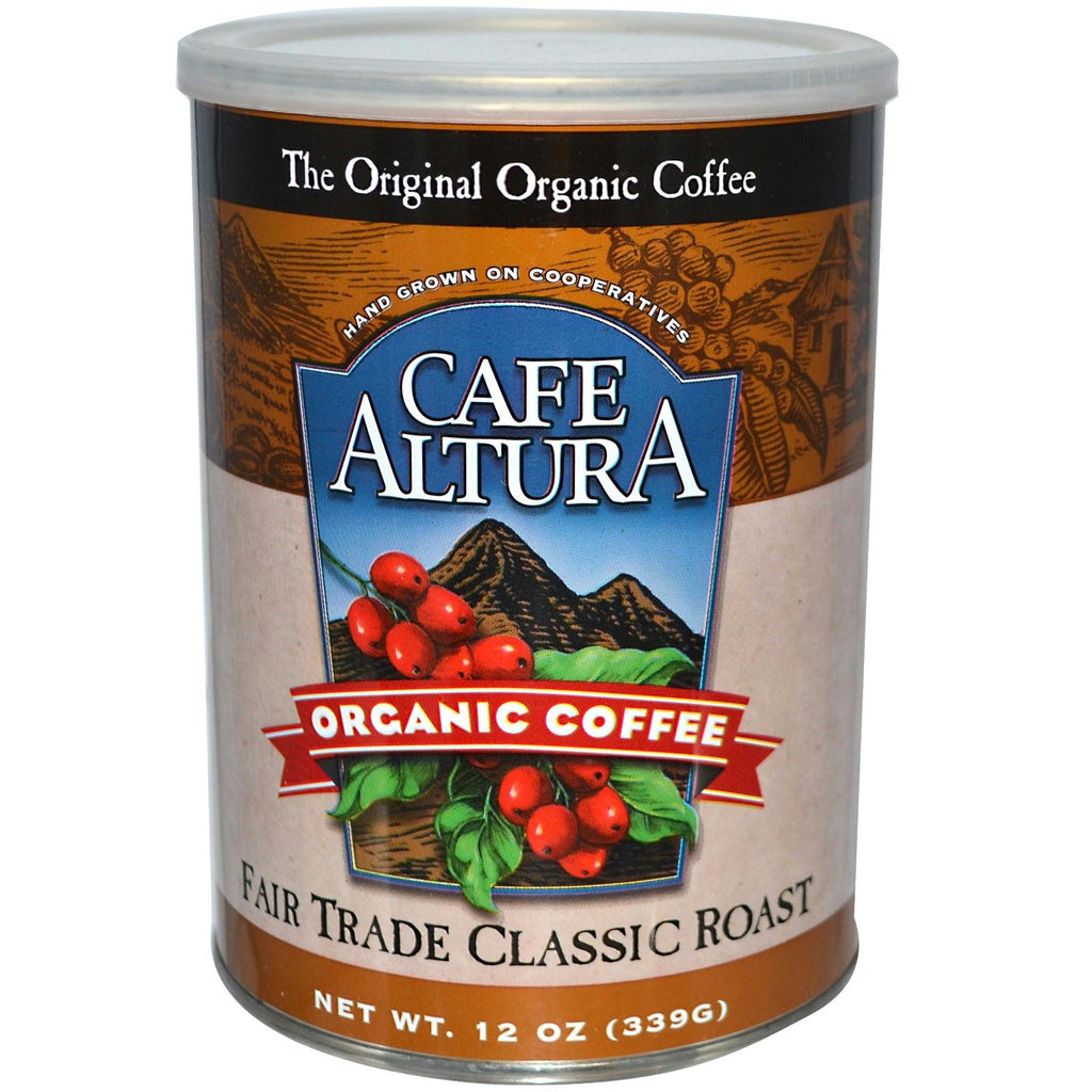 Cafe Altura: Organic Coffee Fair Trade Classic Roast, 12 Oz