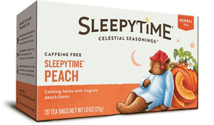 Celestial Seasonings: Herbal Tea Sleepytime Peach, 20 Tea Bags