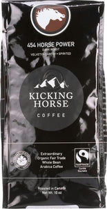 Kicking Horse Coffee: 454 Horse Power Dark Roast Whole Bean, 10 Oz