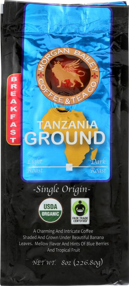 Morgan Bailey Coffee: Breakfast Tanzanian Blend, 8 Oz