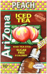 Arizona: Sugar Free Peach Iced Tea 10 Stix, 0.8 Oz