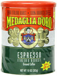 Medaglia D'oro: Italian Roast Espresso Ground Coffee, 10 Oz