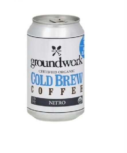 Groundwork Coffee Nitro: Coffee Nitro Cold Brew Organic, 12 Oz