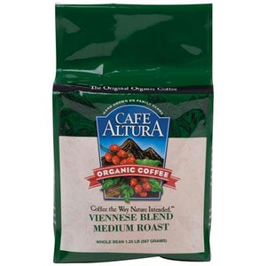 Cafe Altura: Coffee Bean Viennese Blend Organic Coffee, 1.25 Lb