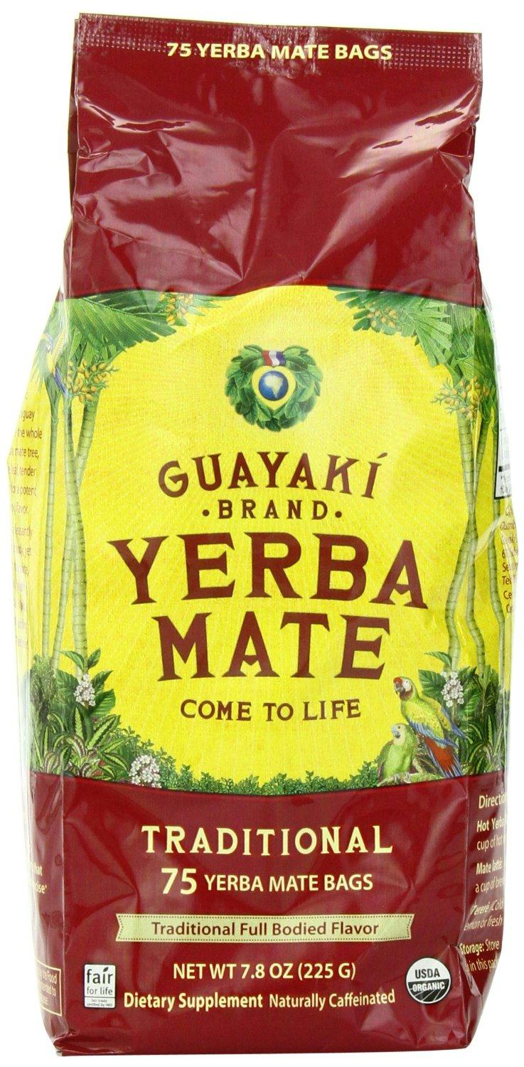 Guayaki: Traditional Organic Yerba Mate Tea 75 Tea Bags, 7.8 Oz