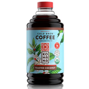 Kohana: Cold Brew Concentrate Toasted Coconut Coffee, 32 Oz