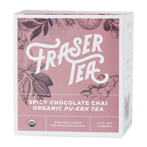 Fraser Tea: Tea Spicy Chocolate Chai Organic, 1.4 Oz